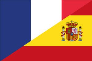 Bandera Francia-España